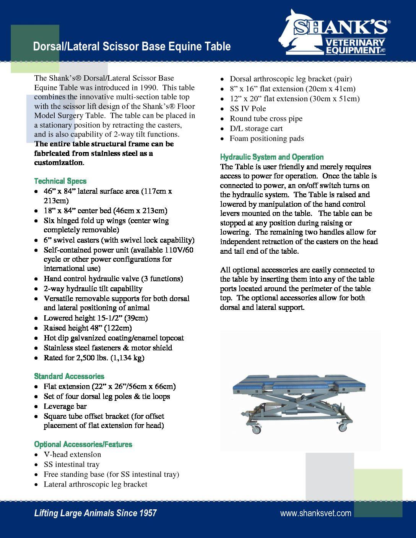 Tech Sheet Dorsal/Lateral Scissor