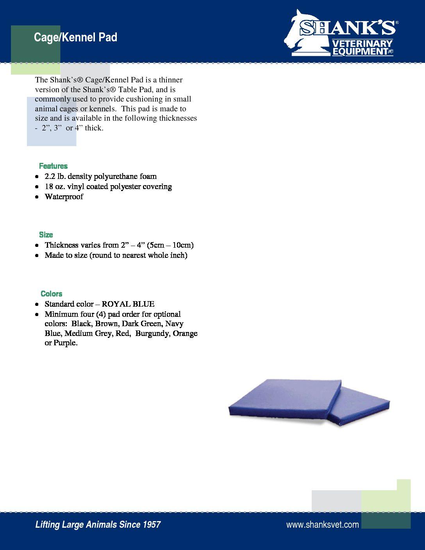 Tech Sheet Cage Mat
