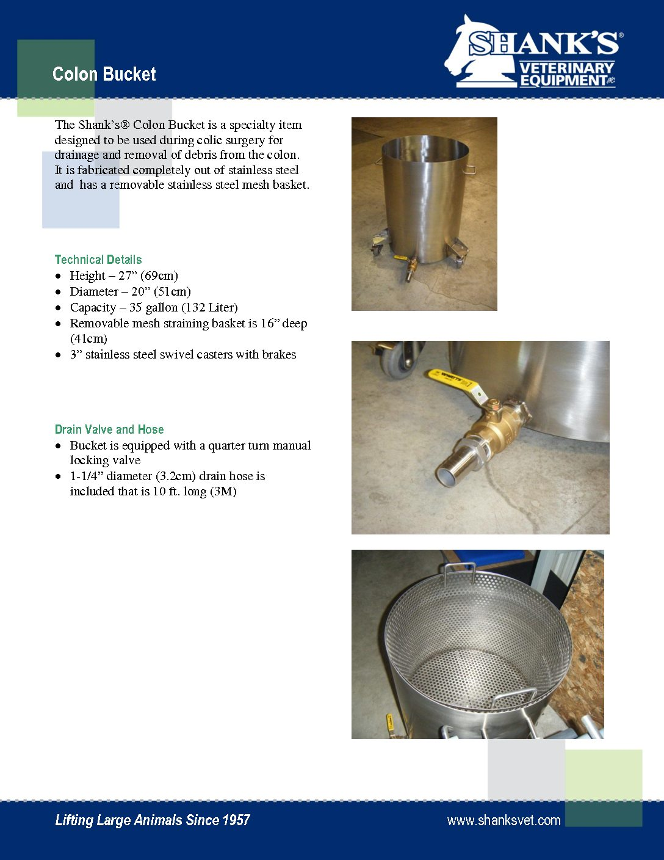 Tech Sheet Colon Bucket