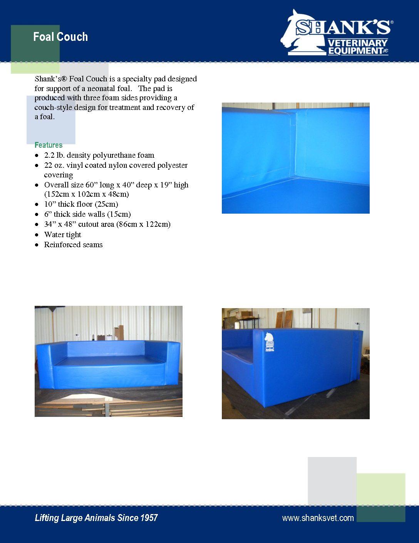 Tech Sheet Foal Couch
