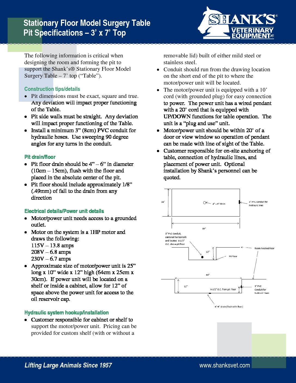 Tech sheet_Stationary Pit Specs_7 foot2017